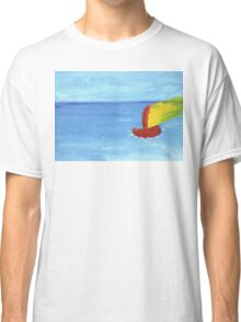 Boat and sea - paint Classic T-Shirt