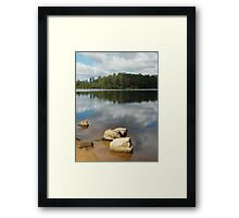 Reflections on Lake Kara Framed Print