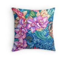 Orchid Splash Throw Pillow