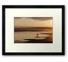 Sea Surf & Sunset Framed Print
