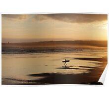 Sea Surf & Sunset Poster