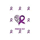 CHARITY FUNDRAISER - Phone Cover, PURPLE DAY FOR EPILEPSY AWARENESS  MARCH 26 2014 by Rebecca Hansen