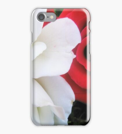 Red & White iPhone Case/Skin