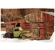 Old Truck and Shed Poster
