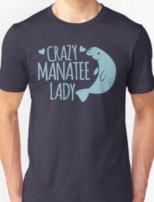 Crazy Manatee Lady T-Shirt