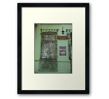 Window screen Framed Print