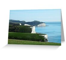 Seven Sisters Cliffs, East Sussex Greeting Card