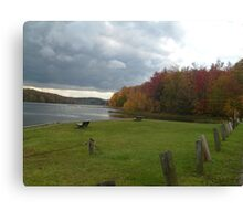 Side View Of A Lake Canvas Print