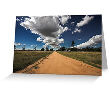 Sky Road Greeting Card