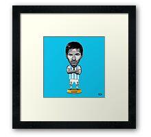 Messi figure Framed Print