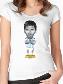 Messi figure Women's Fitted Scoop T-Shirt