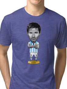 Messi figure Tri-blend T-Shirt