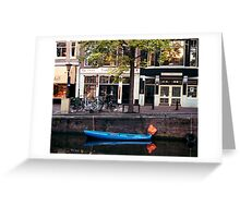 Blu Boat - Amsterdam Greeting Card