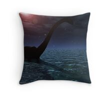 One night in Loch Ness. Throw Pillow