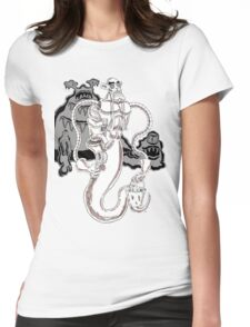 Muckster-cleaning droid Womens Fitted T-Shirt