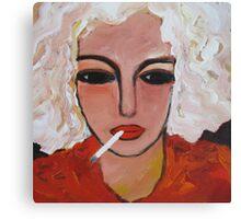 Last cigarette Canvas Print