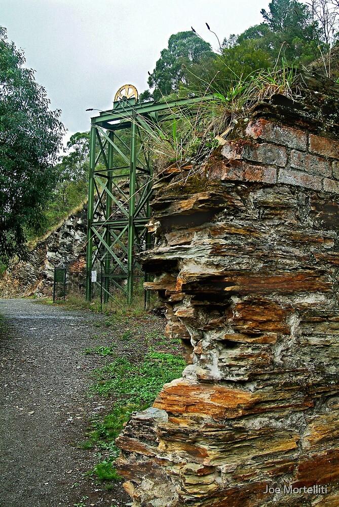Poppet Head,Long Tunnel Extended Gold Mine, Walhalla by Joe Mortelliti
