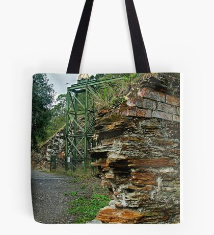 Poppet Head,Long Tunnel Extended Gold Mine, Walhalla Tote Bag