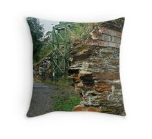 Poppet Head,Long Tunnel Extended Gold Mine, Walhalla Throw Pillow