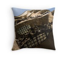 Wrought Iron, Glass and Stone Plus a Genius Imagination Throw Pillow