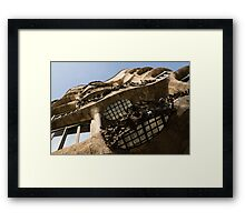 Wrought Iron, Glass and Stone Plus a Genius Imagination Framed Print
