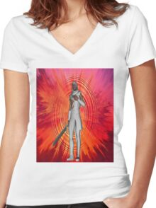 White Knight Women's Fitted V-Neck T-Shirt