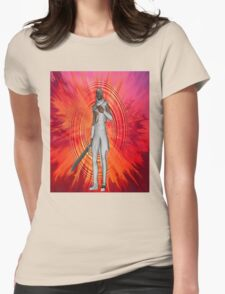 White Knight Womens Fitted T-Shirt