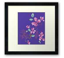 Cute purple flowers Framed Print