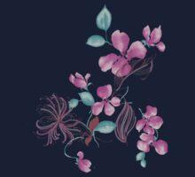 Cute purple flowers Kids Tee
