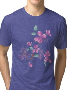 Cute purple flowers Tri-blend T-Shirt