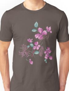Cute purple flowers Unisex T-Shirt