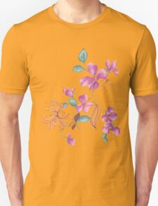 Cute purple flowers Unisex T-Shirt