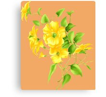 Bouquet of yellow wildflowers Canvas Print