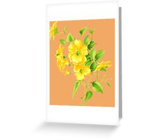 Bouquet of yellow wildflowers Greeting Card