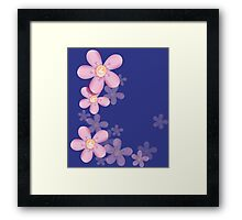 Cute pink flowers Framed Print