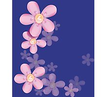 Cute pink flowers Photographic Print