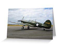 Curtiss P40F Warhawk Greeting Card