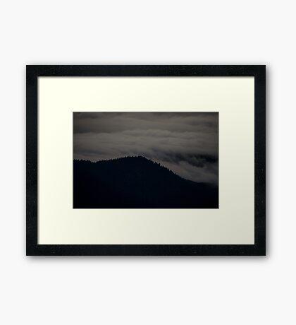 silence clouds pass Framed Print