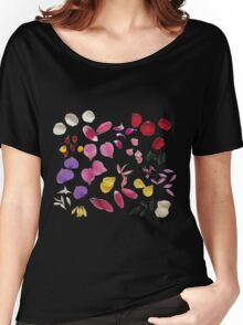 Colorful flower petals Women's Relaxed Fit T-Shirt