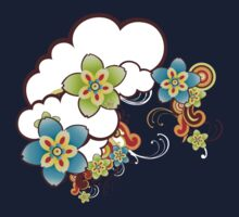 Flowers in clouds Kids Clothes