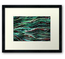 Zombie Blood Splatter Yarn Framed Print
