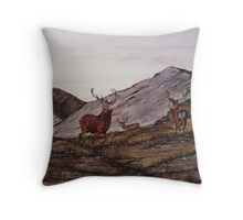 `Cabrach Stags' greetings card & Prints Throw Pillow