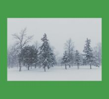Snowstorm - Tall Trees and Whispering Snowflakes Kids Clothes