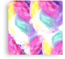 Girly bright pastel watercolor brush strokes Canvas Print