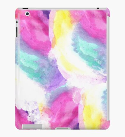 Girly bright pastel watercolor brush strokes iPad Case/Skin