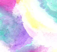 Girly bright pastel watercolor brush strokes Sticker