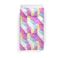Girly bright pastel watercolor brush strokes Duvet Cover