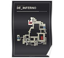 Counter-Strike de_inferno with white outline Poster