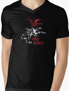 I AM FIRE... I AM DEATH. Mens V-Neck T-Shirt