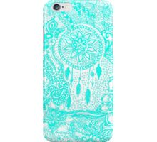 Hipster turquoise dreamcatcher floral doodles iPhone Case/Skin